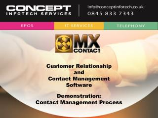 Customer Relationship and Contact Management Software