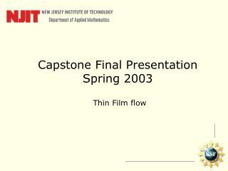 Capstone Final Presentation Spring 2003