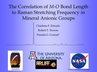 The Correlation of  M-O  Bond Length to Raman Stretching Frequency in Mineral Anionic Groups