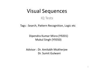 Visual Sequences