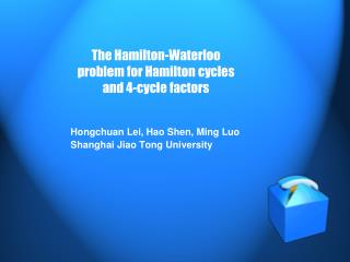 The Hamilton-Waterloo problem for Hamilton cycles and 4-cycle factors