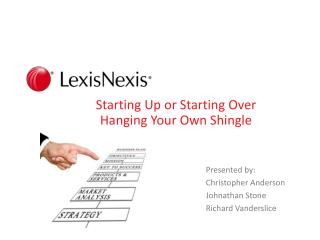 Starting Up or Starting Over  Hanging Your Own Shingle