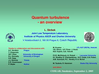 Quantum turbulence  - an overview
