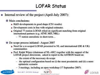 LOFAR Status