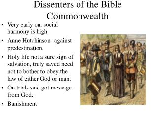 Dissenters of the Bible Commonwealth