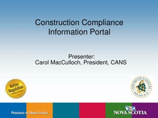 Construction Compliance  Information Portal