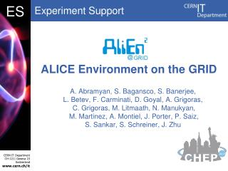 ALICE Environment on the GRID