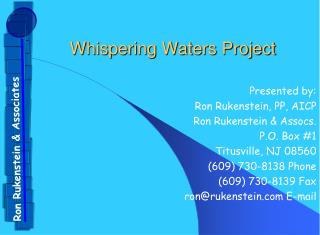 Whispering Waters Project
