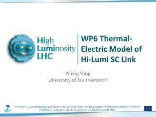 WP6 Thermal-Electric Model of Hi- Lumi  SC Link