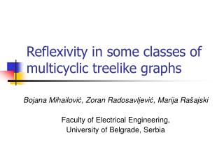 Reflexivity in some classes of multicyclic treelike graphs