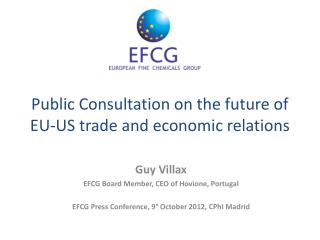 Public Consultation on the future of EU-US trade and economic relations