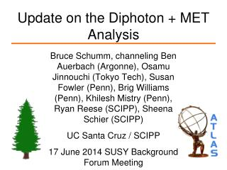Update on the Diphoton + MET Analysis