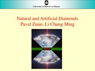 Natural and Artificial Diamonds Pavel Zinin, Li Chung Ming