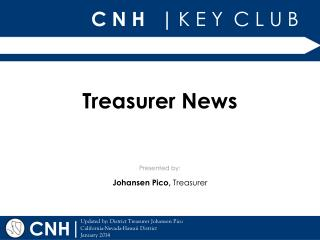 Treasurer News