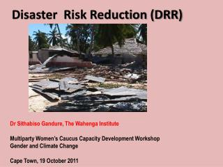 Disaster  Risk Reduction (DRR)