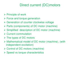 Direct current (DC)motors