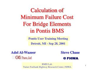 Calculation of Minimum Failure Cost  For Bridge Elements  in Pontis BMS