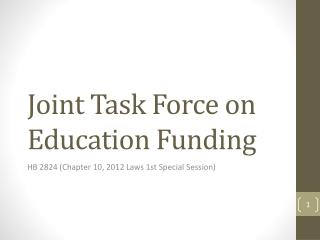 Joint Task Force on Education Funding