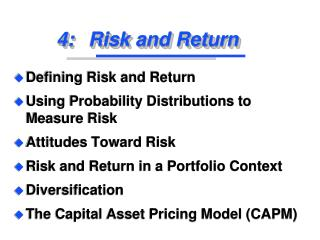 4:	Risk and Return