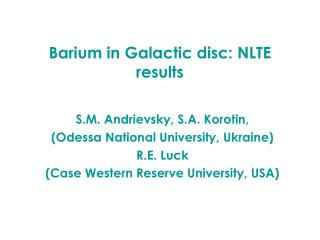Barium in Galactic disc: NLTE results