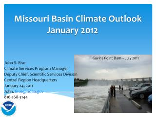 Missouri Basin Climate Outlook January 2012