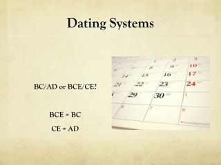 Dating Systems