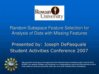 Random Subspace Feature Selection for Analysis of Data with Missing Features