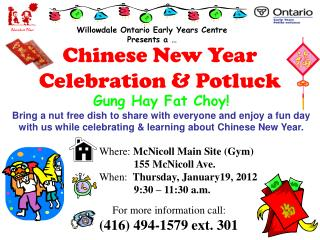 Chinese New Year Celebration & Potluck