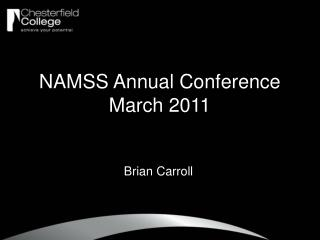 NAMSS Annual Conference March 2011