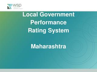 Local Government Performance  Rating System Maharashtra