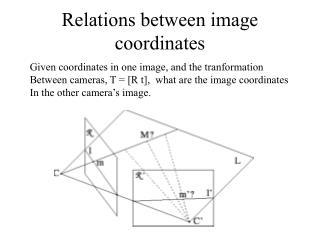 Relations between image coordinates