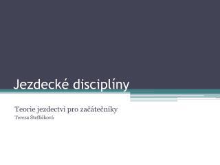 Jezdecké disciplíny