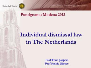 Individual dismissal law  in The Netherlands