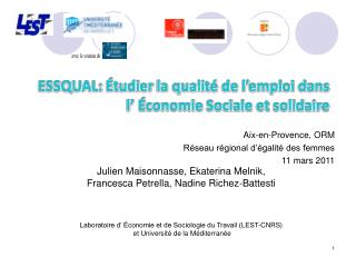Aix-en-Provence, ORM Réseau régional d'égalité des femmes  11 mars 2011