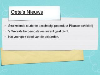 Oete's Nieuws