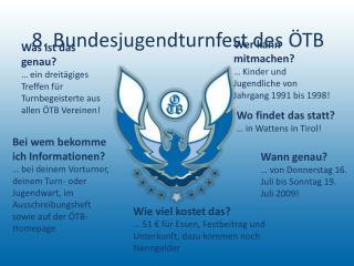8. Bundesjugendturnfest des ÖTB