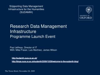Research Data Management Infrastructure Programme Launch Event