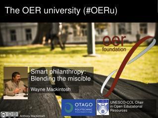 The OER university  (#OERu)