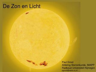 De Zon en Licht