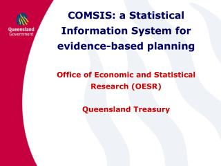 COMSIS: a Statistical Information System for evidence-based planning