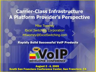 Carrier-Class Infrastructure A Platform Provider's Perspective