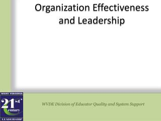 WVDE Division of Educator Quality and System Support