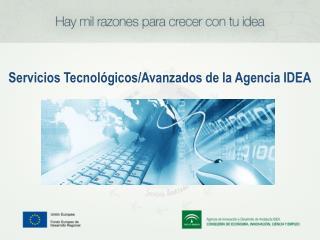 Servicios Tecnológicos/Avanzados de la Agencia IDEA