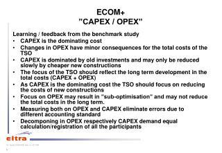 """ECOM+ """"CAPEX / OPEX"""""""