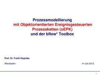 Prof. Dr. Frank Hogrebe Wiesbaden                        im Juli 2013