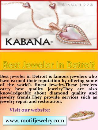 Best Jeweler In Detroit