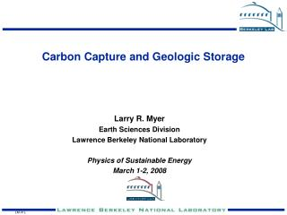Carbon Capture and Geologic Storage