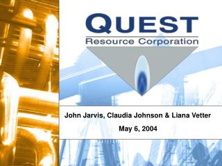 John Jarvis, Claudia Johnson & Liana Vetter
