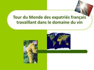 Tour du Monde des expatriés français travaillant dans le domaine du vin