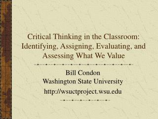 Bill Condon   Washington State University wsuctprojectu